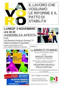 Il lavoro che vogliamo, le riforme, il patto di stabilità @ Sede Comitato Quartiere Resistenza | Forlì | Emilia-Romagna | Italia