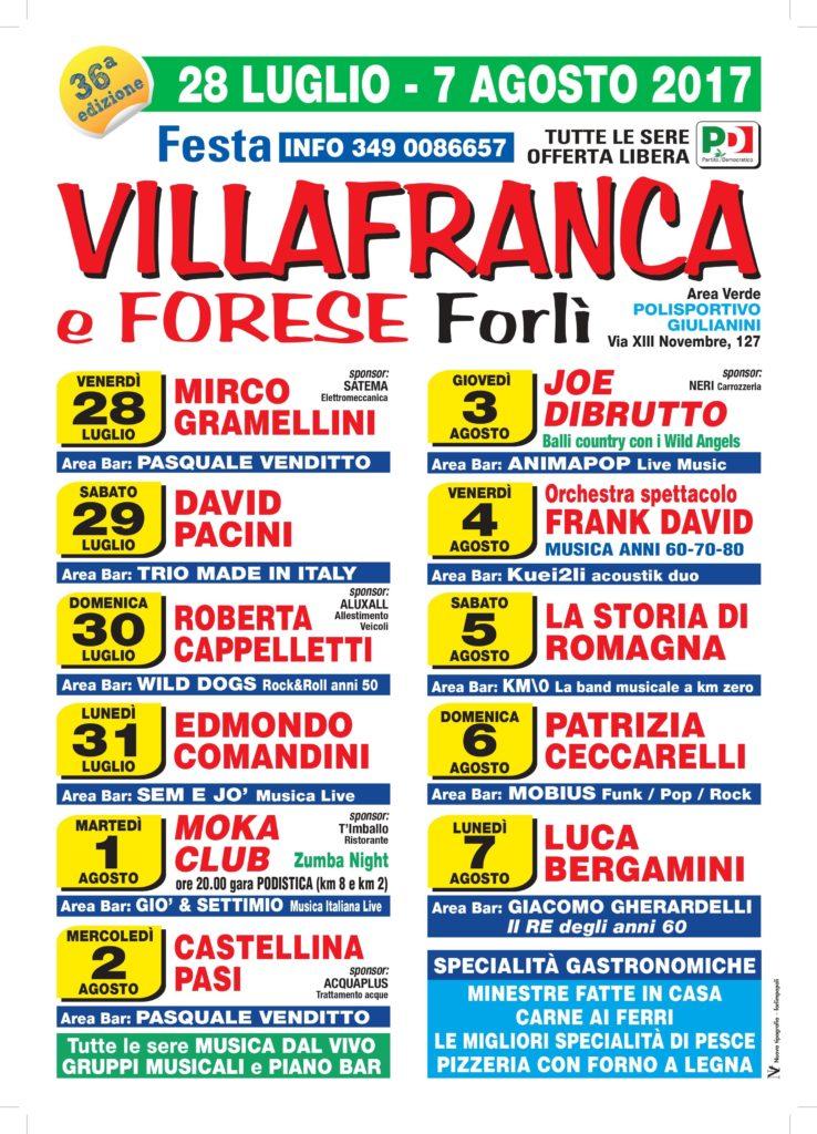 Festa de l'Unità di Villafranca @ Area Polisportivo Villafranca | Villafranca-San Martino | Emilia-Romagna | Italia