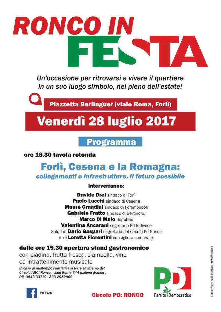 Ronco in festa @ Piazza Berlinguer | Forlì | Emilia-Romagna | Italia
