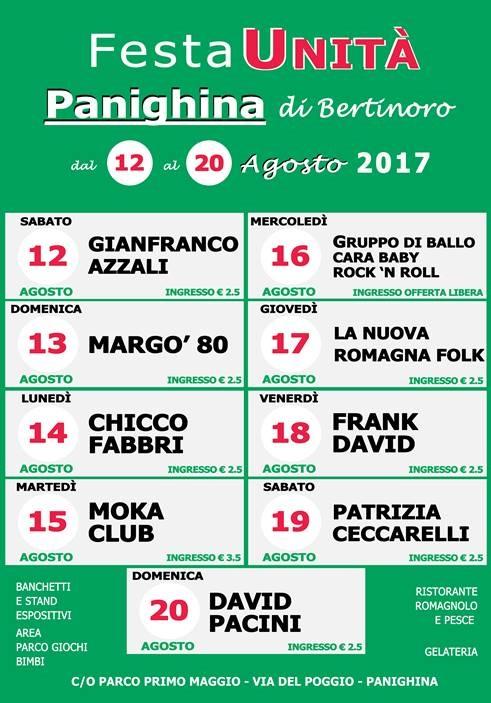 Festa de l'Unità di Panighina @ Parco Primo Maggio | Panighina | Emilia-Romagna | Italia