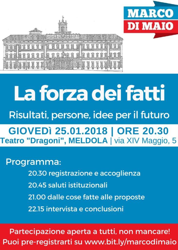 La forza dei fatti: rendiconto Marco Di Maio a Meldola @ Teatro Dragoni | Meldola | Emilia-Romagna | Italia