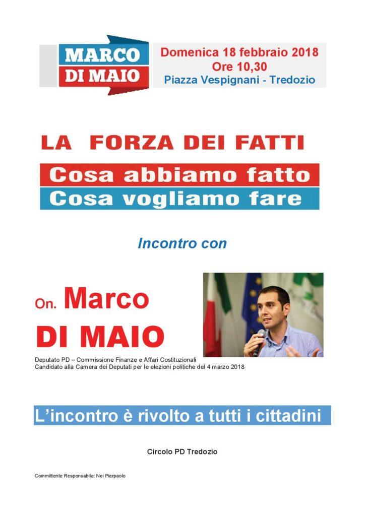 Incontro con Marco Di Maio a Tredozio @ Piazza Vespignani | Tredozio | Emilia-Romagna | Italia