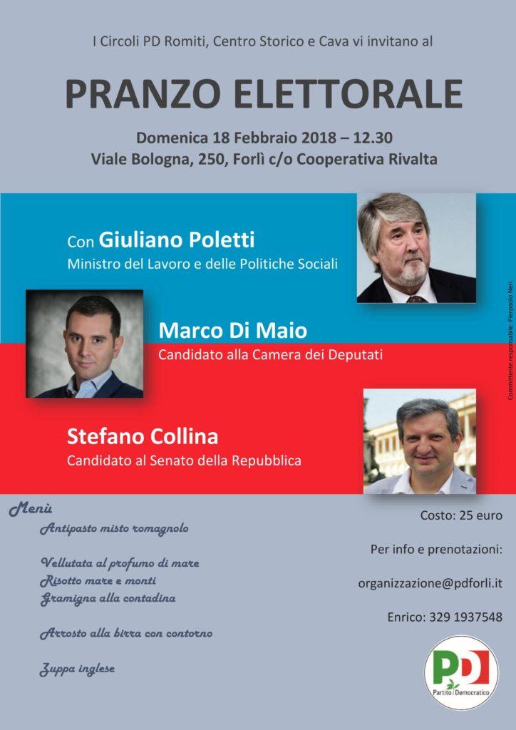 Pranzo elettorale con Poletti, M. Di Maio e Collina @ Cooperativa Rivalta | Forlì | Emilia-Romagna | Italia