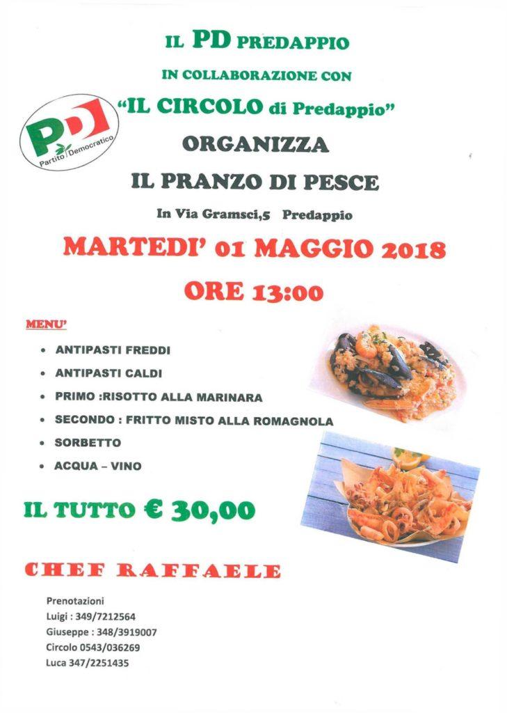 Pranzo di pesce a Predappio @ Circolo Pd Predappio-Fiumana | Predappio | Emilia-Romagna | Italia