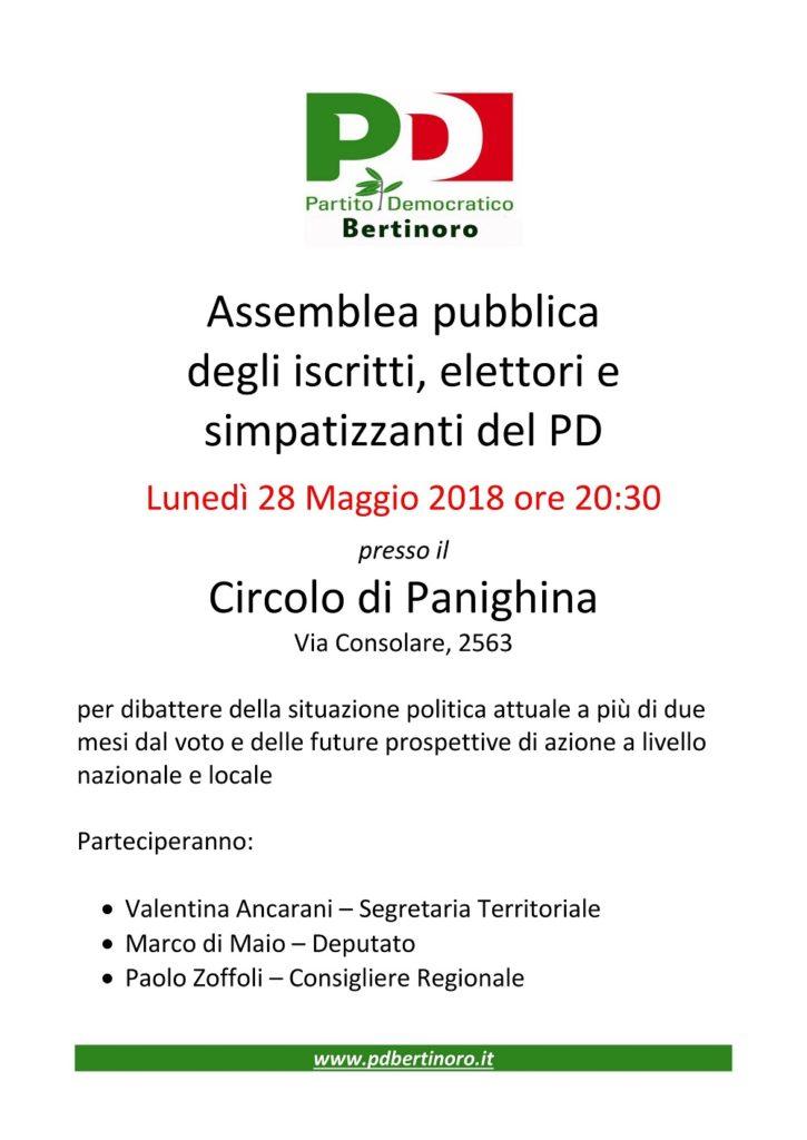 Assemblea pubblica a Bertinoro @ Circolo Panighina | Panighina | Emilia-Romagna | Italia