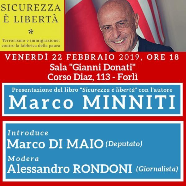 Marco Minniti presenta il suo libro @ Sala Donati