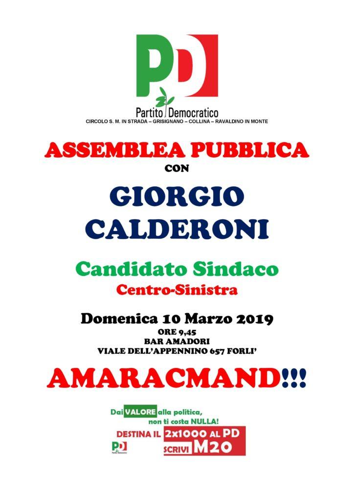 Assemblea con Giorgio Calderoni a San Martino @ Bar Amadori