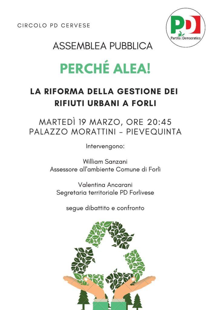 """""""Perchè Alea"""", incontro a Pievequinta sulla raccolta differenziata @ Palazzo Morattini"""