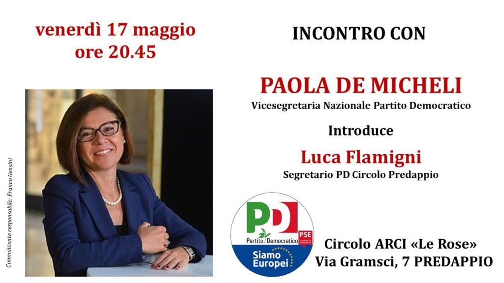 Paola De Micheli a Predappio @ Circolo Arci 'Le Rose'