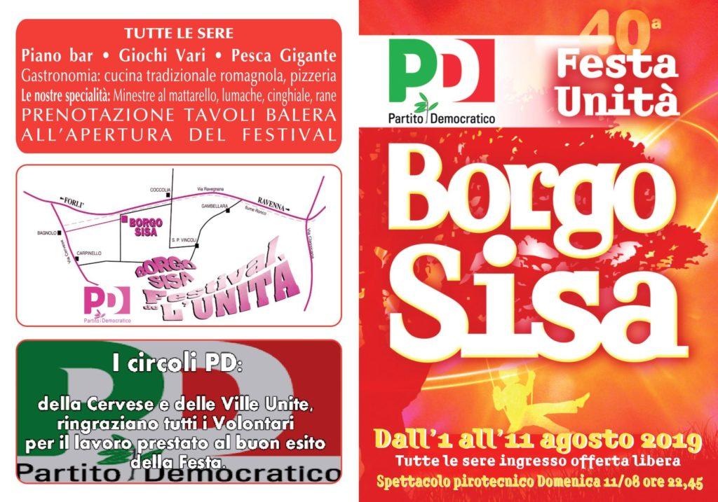 Festa de L'Unità di Borgo Sisa @ Area Campo Sportivo