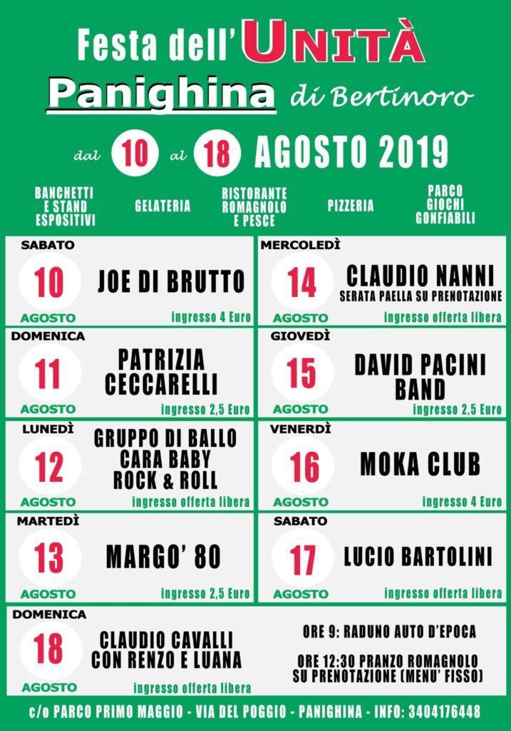Festa de L'Unità di Panighina di Bertinoro @ Parco Primo Maggio