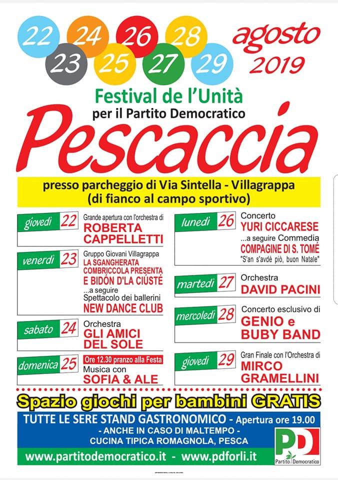 Festival de l'Unità della Pescaccia @ Parcheggio via Sintella Villagrappa