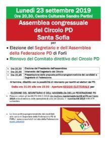Assemblea congressuale del Circolo PD Santa Sofia @ Centro Culturale Sandro Pertini