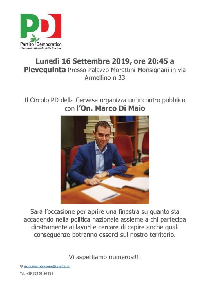 Incontro con Marco Di Maio @ Palazzo Morattini Pievequinta