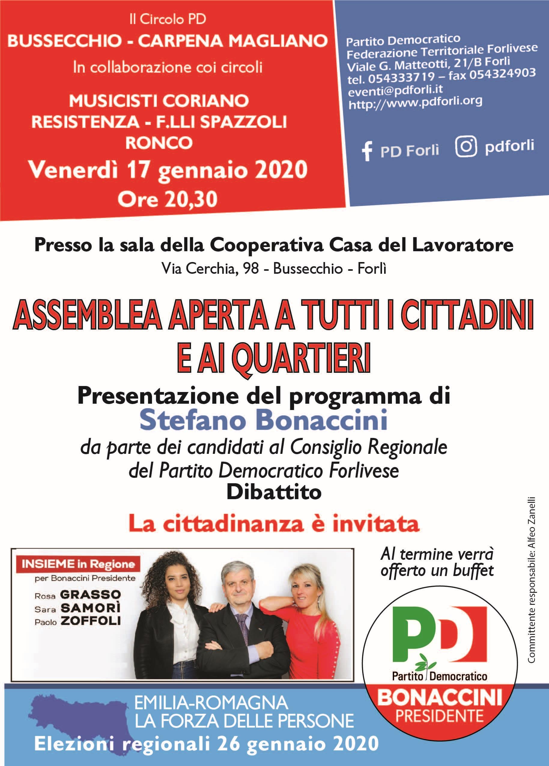 Assemblea aperta a Bussecchio @ Casa del Lavoratore