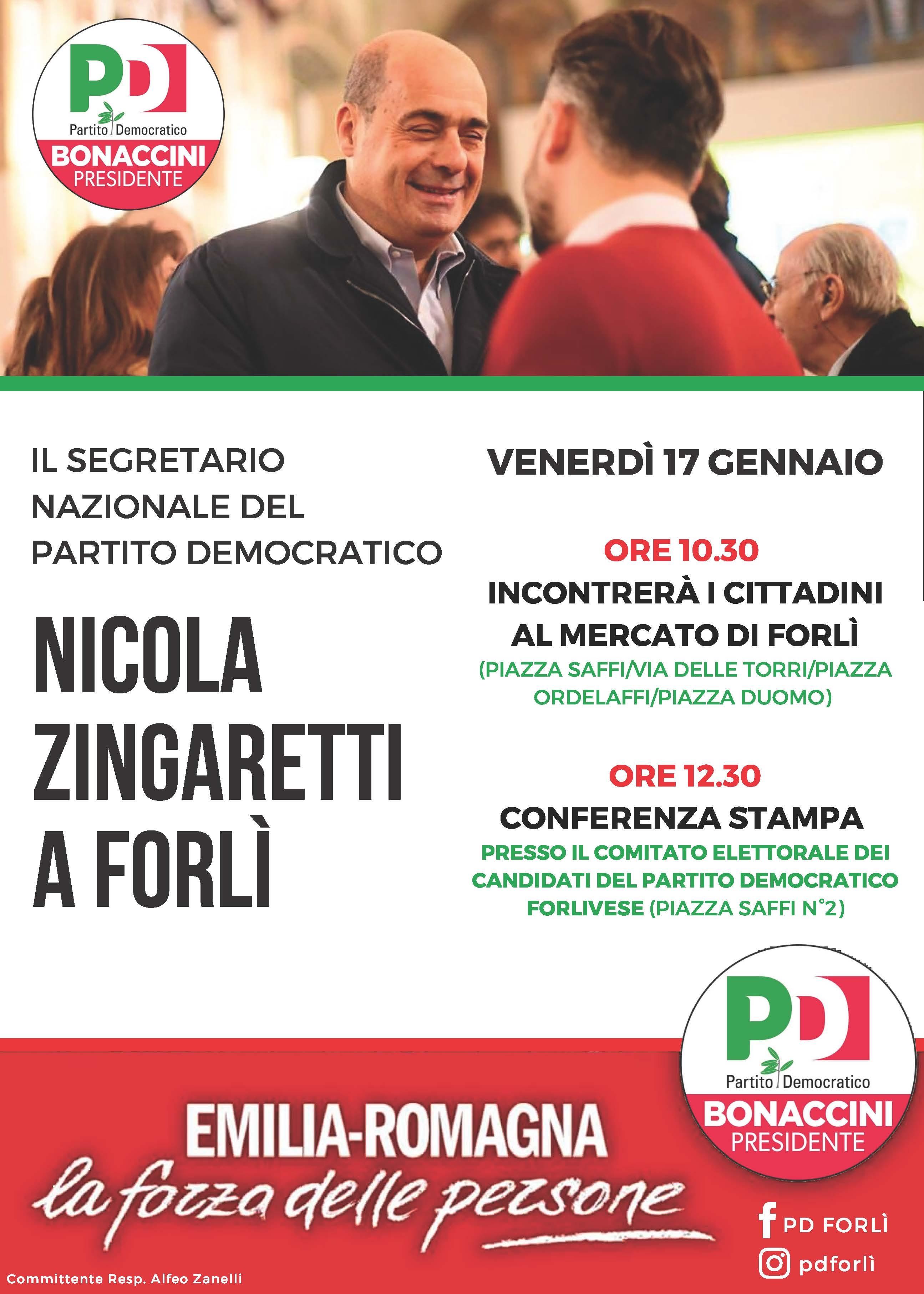 Nicola Zingaretti a Forlì @ Comitato elettorale