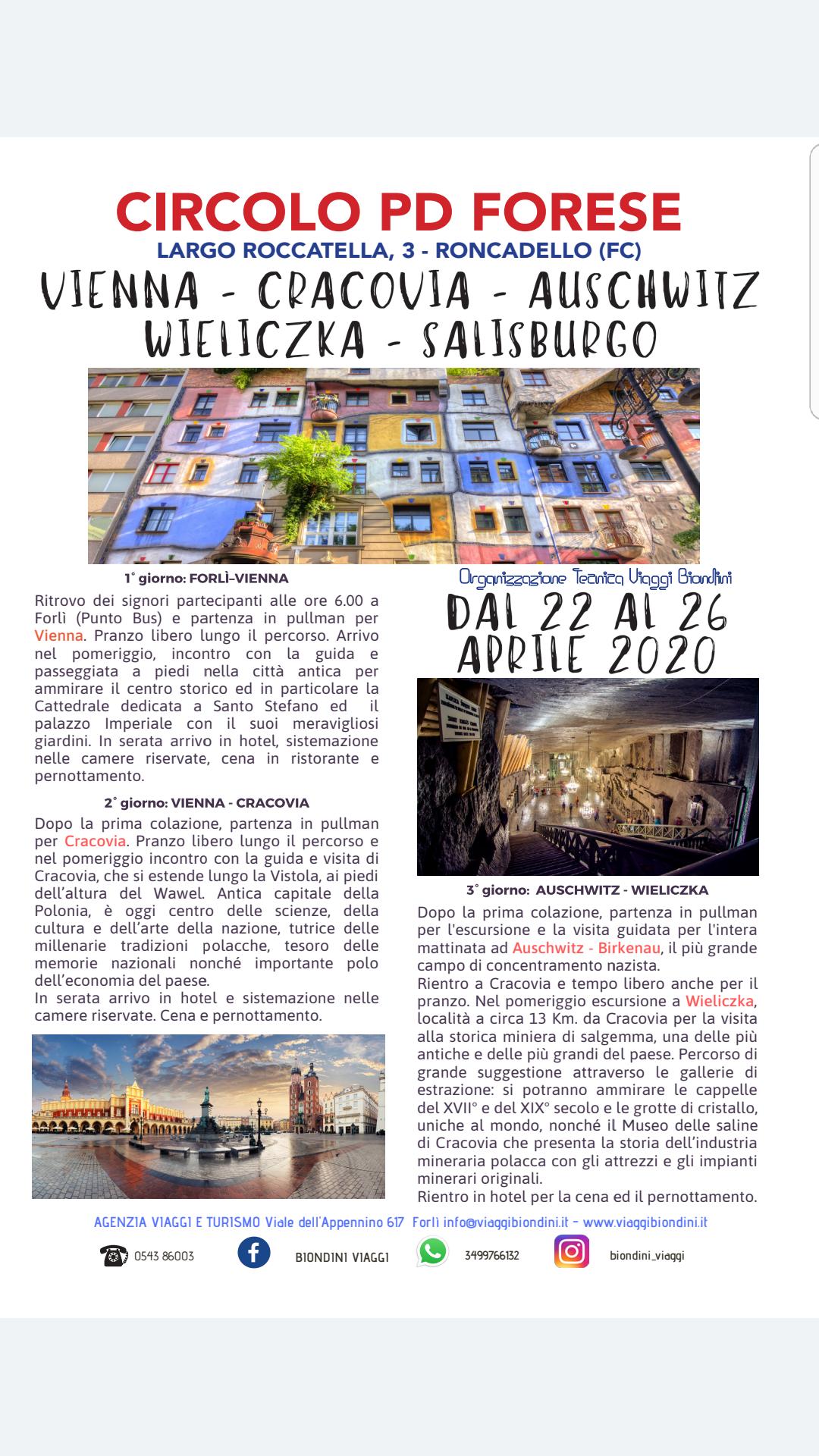 Viaggio in Austria @ Vienna-Cracovia-Aushwitz-Wieliczka-Salisburgo
