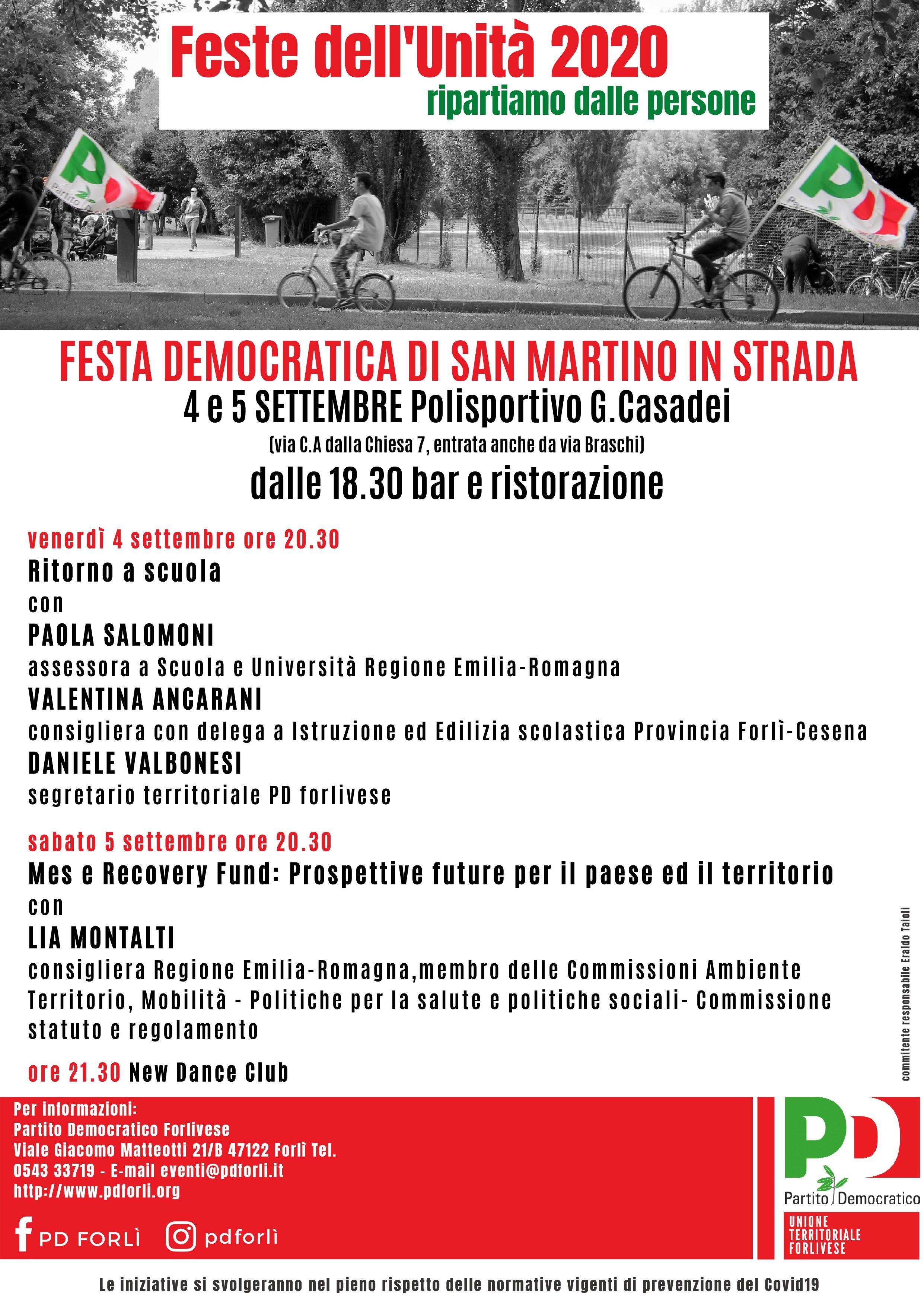 Festa Democratica di San Martino in Strada @ Polisportivo G.Casadei