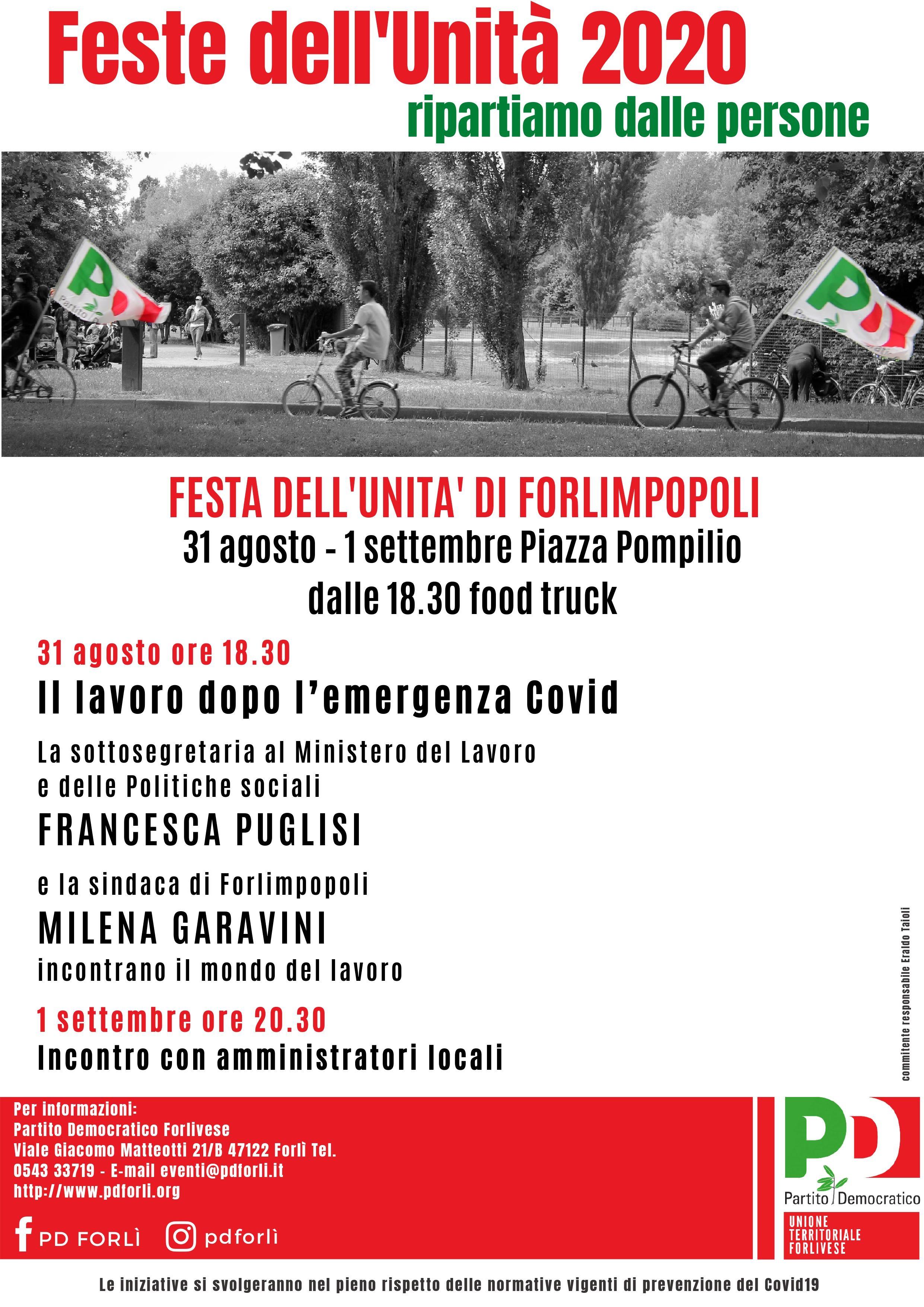 Festa dell'Unità di Forlimpopoli @ Piazza Pompilio