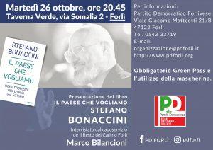 """Presentazione del libro """"Il Paese che vogliamo"""" di Stefano Bonaccini @ Taverna Verde"""